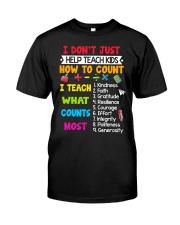 Teach Kids Counts Classic T-Shirt front