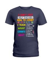 Teach Kids Counts Ladies T-Shirt thumbnail
