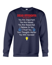 Teacher Shirt - Dear Students Crewneck Sweatshirt thumbnail