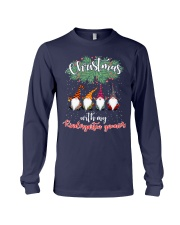 CHRISTMAS WITH MY KINDERGARTEN GNORMICS Long Sleeve Tee tile