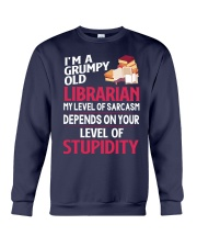 Grumpy Old Librarian Crewneck Sweatshirt thumbnail