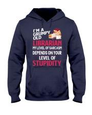 Grumpy Old Librarian Hooded Sweatshirt thumbnail