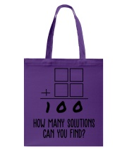 HOW MANY SOLUTIONS CAN YOU FIND Tote Bag thumbnail