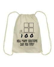HOW MANY SOLUTIONS CAN YOU FIND Drawstring Bag thumbnail