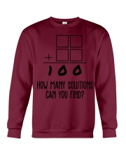 HOW MANY SOLUTIONS CAN YOU FIND Crewneck Sweatshirt thumbnail