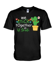 We stick together in 1st Grade V-Neck T-Shirt thumbnail