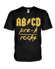Pre-k Rocks V-Neck T-Shirt thumbnail
