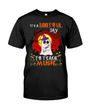 Bootiful day To Teach Music Classic T-Shirt front