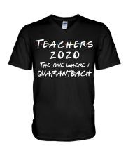 Teachers 2020 - I QUARANTEACH V-Neck T-Shirt thumbnail
