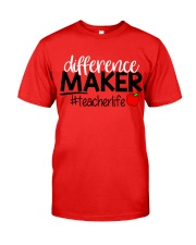 Teacher Difference Maker Classic T-Shirt front