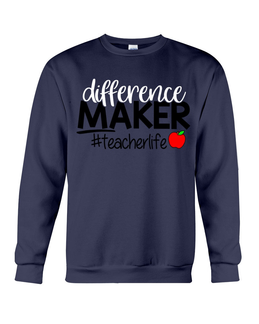Teacher Difference Maker Crewneck Sweatshirt