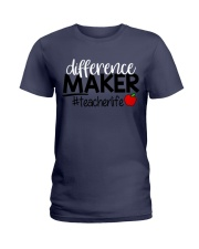 Teacher Difference Maker Ladies T-Shirt thumbnail