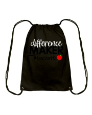 Teacher Difference Maker Drawstring Bag thumbnail