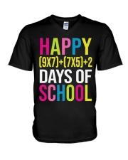 HAPPY 100 DAY OF SCHOOL  V-Neck T-Shirt thumbnail