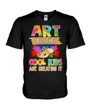 Art All The Cool Kids Are Creating it V-Neck T-Shirt thumbnail