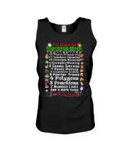 12 DAYS OF TEACHING MATH Unisex Tank thumbnail