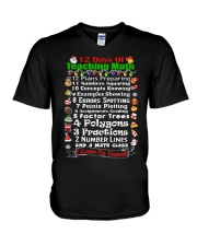 12 DAYS OF TEACHING MATH V-Neck T-Shirt thumbnail