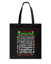 12 DAYS OF TEACHING MATH Tote Bag thumbnail