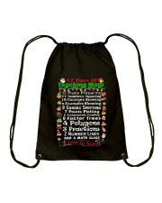 12 DAYS OF TEACHING MATH Drawstring Bag thumbnail