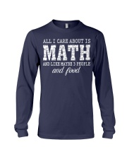 ALL I CARE ABOUT IS MATH Long Sleeve Tee thumbnail