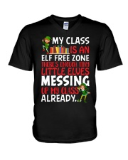 MY CLASS IS AN ELF FREEZONE THERE'S ENOUGH TINY V-Neck T-Shirt thumbnail