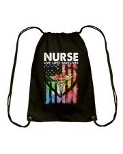NURSE LIVE LOVE SAVE LIVES Drawstring Bag thumbnail