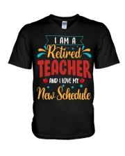 I Am a Retired Teacher V-Neck T-Shirt thumbnail