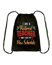 I Am a Retired Teacher Drawstring Bag thumbnail