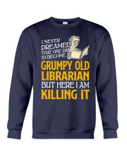Grumpy Old Librarian Crewneck Sweatshirt tile