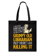 Grumpy Old Librarian Tote Bag thumbnail