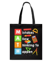 Math Shirt Tote Bag front