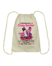Teacher friend behinds crazy teacher Drawstring Bag thumbnail