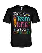 Dream Team Counselors V-Neck T-Shirt thumbnail