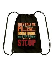 THEY CALL ME PI BECAUSE I'M IRRATIONAL  Drawstring Bag thumbnail