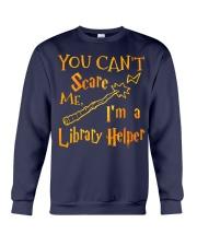You can't scare me i'm a library helper Crewneck Sweatshirt thumbnail