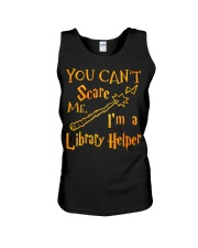 You can't scare me i'm a library helper Unisex Tank thumbnail