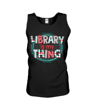 Library is my Thing Unisex Tank thumbnail