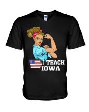 I TEACH IOWA V-Neck T-Shirt thumbnail
