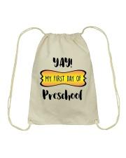 my first day of preschool Drawstring Bag thumbnail