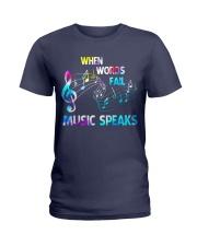 Music Speaks Ladies T-Shirt thumbnail