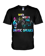 Music Speaks V-Neck T-Shirt tile