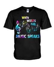 Music Speaks V-Neck T-Shirt thumbnail