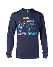 Music Speaks Long Sleeve Tee tile