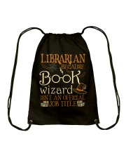 Librarian Because book wizard Drawstring Bag thumbnail