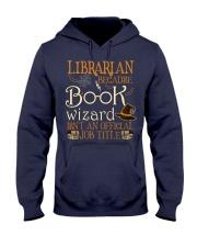 Librarian Because book wizard Hooded Sweatshirt thumbnail