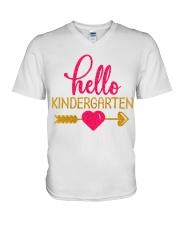 Hello Kindergarten V-Neck T-Shirt thumbnail