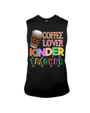 Coffee Lover Kinder Teacher Sleeveless Tee thumbnail