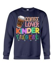 Coffee Lover Kinder Teacher Crewneck Sweatshirt thumbnail