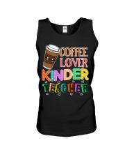 Coffee Lover Kinder Teacher Unisex Tank thumbnail