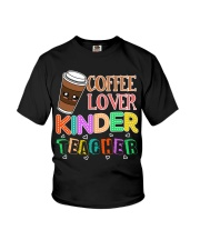 Coffee Lover Kinder Teacher Youth T-Shirt thumbnail